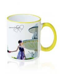 Photo Mug Outer Yellow