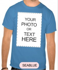 100% Cotton Blue Tshirt